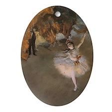 Degas The Star Ornament (Oval)