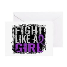 Licensed Fight Like a Girl 31.8 Chia Greeting Card