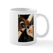 Red Ruffed Lemur with Heart Mug
