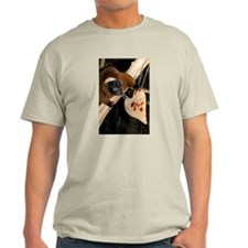 Red Ruffed Lemur with Heart Light T-Shirt