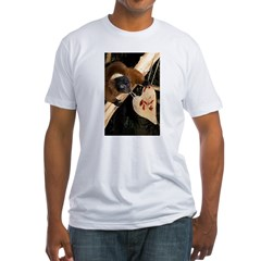 Red Ruffed Lemur with Heart Shirt