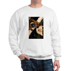 Red Ruffed Lemur with Heart Sweatshirt