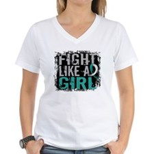 Fight Like a Girl 31.8 Cervical Cancer Shirt