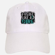 Licensed Fight Like a Girl 31.8 Cervical Cance Baseball Baseball Cap