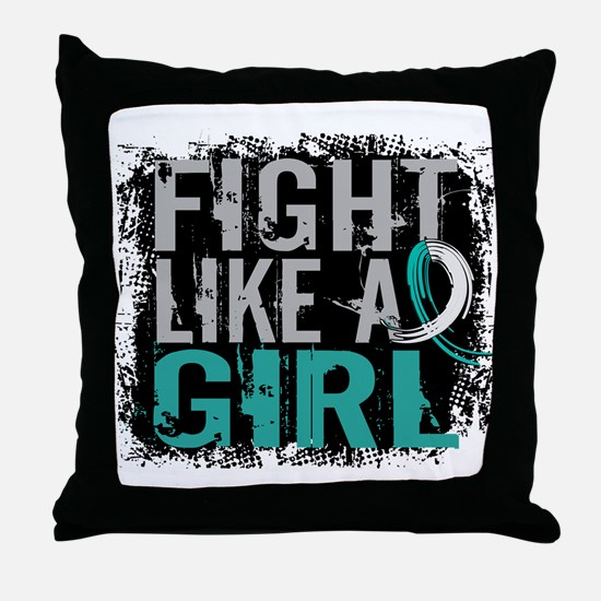 Licensed Fight Like a Girl 31.8 Cervi Throw Pillow