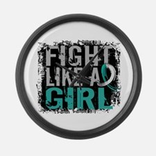 Licensed Fight Like a Girl 31.8 C Large Wall Clock