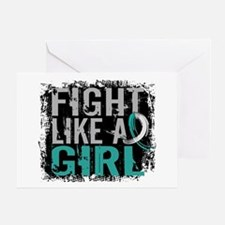 Licensed Fight Like a Girl 31.8 Cerv Greeting Card