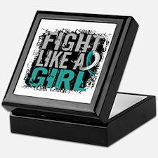 Licensed Fight Like a Girl 31.8 Cervi Keepsake Box