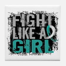 Licensed Fight Like a Girl 31.8 Cervi Tile Coaster