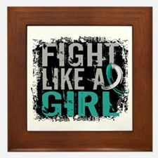 Licensed Fight Like a Girl 31.8 Cervic Framed Tile