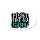 Fight like a girl Oval Car Magnets