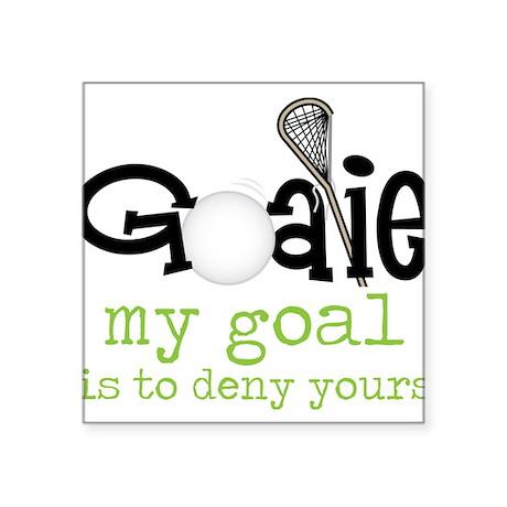 "My Goal Square Sticker 3"" x 3"""