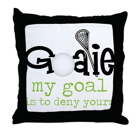 My Goal Throw Pillow