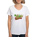 Christmas bouquet Women's V-Neck T-Shirt