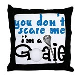Lacrosse goalie Throw Pillows