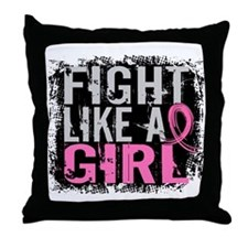 Licensed Fight Like a Girl 31.8 Throw Pillow