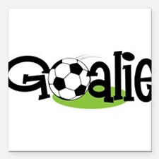 "Soccer Goalie Square Car Magnet 3"" x 3"""