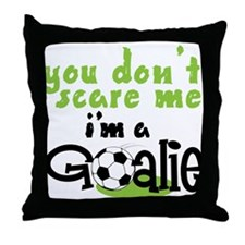 I'm A Goalie Throw Pillow