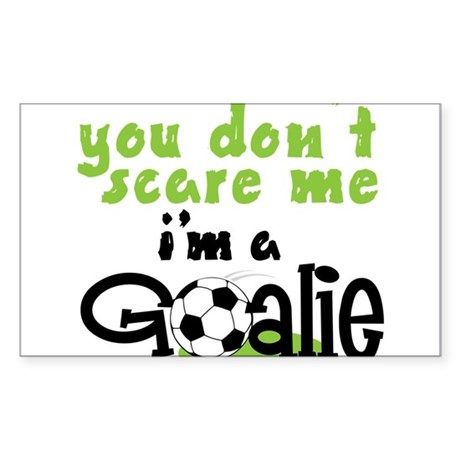 I'm A Goalie Sticker (Rectangle)