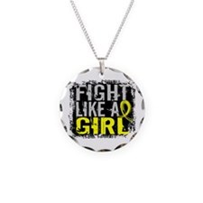 Licensed Fight Like a Girl 3 Necklace