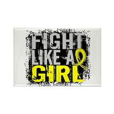 Licensed Fight Like a Girl 31.8 B Rectangle Magnet