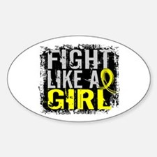Licensed Fight Like a Girl 31.8 Bla Decal
