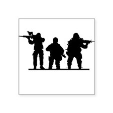"""Army Soldiers Square Sticker 3"""" x 3"""""""