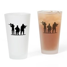 Army Soldiers Drinking Glass