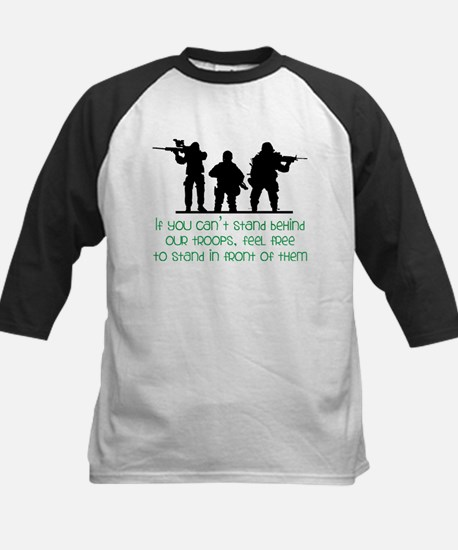 Our Troops Kids Baseball Jersey