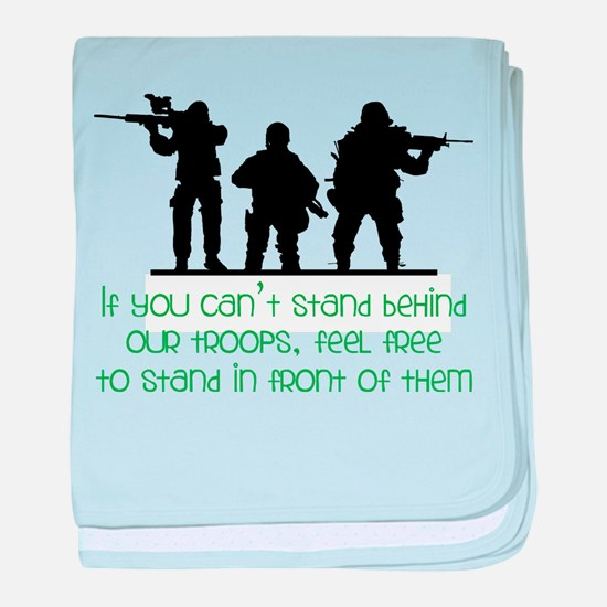 Our Troops baby blanket