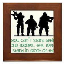 Our Troops Framed Tile
