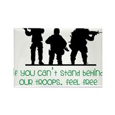 Our Troops Rectangle Magnet