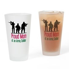 Proud Mom Drinking Glass