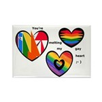 Gay Heart Rectangle Magnet