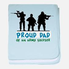 Proud Dad baby blanket