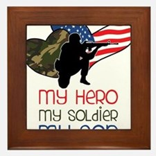 My Hero Framed Tile