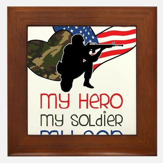 My Hero Framed Tile