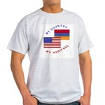 Armenia USA Flag Heritage Ash Grey T-Shirt