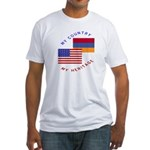 Armenia USA Flag Heritage Fitted T-Shirt