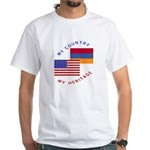 Armenia USA Flag Heritage White T-Shirt