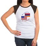 Armenia USA Flag Heritage Women's Cap Sleeve T-Shi