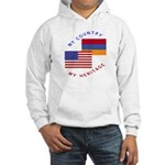 Armenia USA Flag Heritage Hooded Sweatshirt