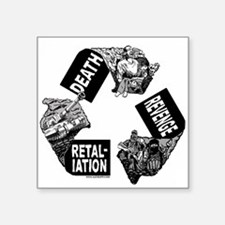 """Recycled Violence Square Sticker 3"""" x 3"""""""