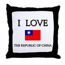 Flag of The Republic Of China Throw Pillow