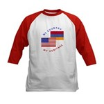 Armenia USA Flag Heritage Kids Baseball Jersey