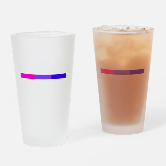 Bi Pride Horizontal Bar Drinking Glass