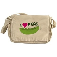 I Love Peas Messenger Bag