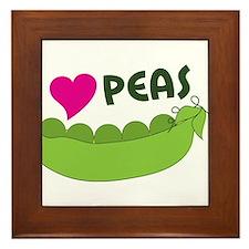 I Love Peas Framed Tile