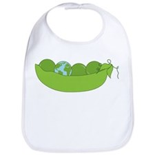 Green World Peas Bib