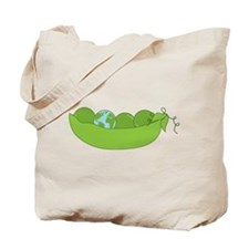 Green World Peas Tote Bag